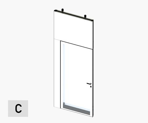 moveable wall porte double vitrée double door glazed